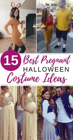 Pregnant on Halloween? We've gathered some of the best pregnant Halloween costume ideas for you so you can put together a fun, totally unique costume. Pregnant Couple Halloween Costumes, Halloween Pregnancy Shirt, Pregnancy Costumes, Disney Halloween Costumes, Pregnancy Shirts, Baby Halloween, Maternity Costumes, Halloween Halloween, Halloween Signs