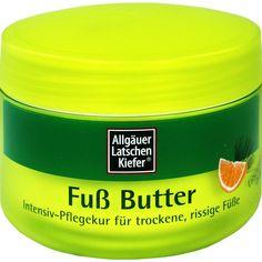 ALLGÄUER LATSCHENKIEFER Fuß Butter Creme:   Packungsinhalt: 200 ml Creme PZN: 01757188 Hersteller: Dr. Theiss Naturwaren GmbH Preis: 9,96…