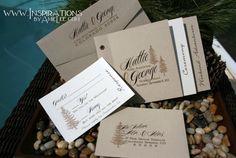 Wedding Invitations Booklet Style by InspirationsbyAmieLe on Etsy, $50.00