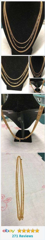 Premier Designs NEW 3 Stranded Goldtone Long Chain  | eBay http://www.ebay.com/itm/Premier-Designs-NEW-3-Stranded-Goldtone-Long-Chain-/322461543737?ssPageName=STRK:MESE:IT