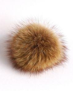 b5963c4822c Real Fur Pom Pom Hat Raccoon Pompom Fox Fur Pompom Large Pom Poms Fur Ball