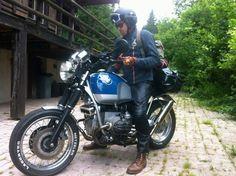 "BMW R100R by ""Half Devil 333"" Triumph Motorcycles, Vintage Motorcycles, Bmw Vintage, Bmw Scrambler, Bmw Boxer, Bmw Cafe Racer, R80, Moto Guzzi, Wild Hearts"