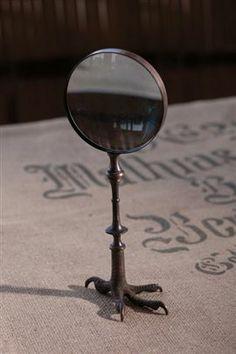 Blackened Brass Claw Magnifying Glass-Mothology