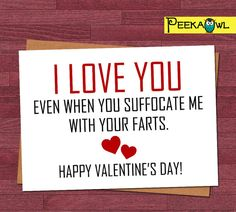 Instant Download Funny Valentines card Boyfriend by PeekaOwl