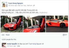 Tuấn Hưng khoe siêu xe Lamborghini Aventador - http://xeoto.asia/tuan-hung-khoe-sieu-xe-lamborghini-aventador.shtml