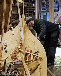 Viking boatbuilding techniques are alive.