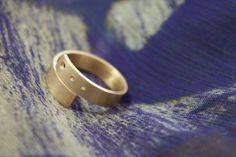 Simple Brass Wrap Ring by kikibyKV on Etsy