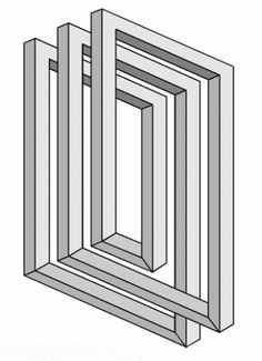 Greyscale figures – Impossible world - Optical Illusions Illusion Drawings, 3d Drawings, Illusion Art, Geometric 3d, Geometric Drawing, Geometric Designs, Op Art, Illusion Tricks, Impossible Shapes
