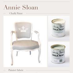 Annie Sloan Chalk Paint Paris Grey Annie Sloan Chalk Paint Paris Grey, Accent Chairs, Painting, Furniture, Home Decor, Upholstered Chairs, Decoration Home, Room Decor, Painting Art