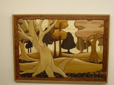WOODLANDS II hand carved Intarsia by Rakowoods gift by RAKOWOODS, $1000.00