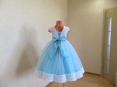 """Купить Нарядное платье для девочки """"Лазурная волна"""" - цветное платье, пышное платье, нарядное платье"""