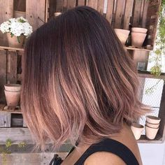 Pink Blush Lob Hairstyle