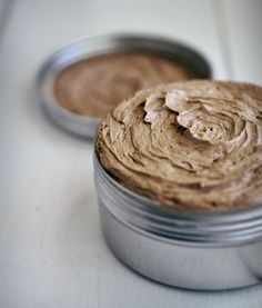 Use coffee extract and cocoa powder to make this whipped mocha body butter.