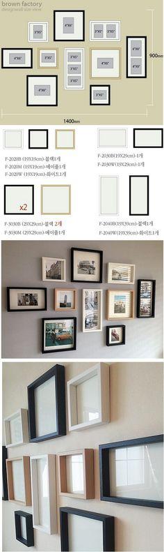 액자 10개세트 11만원 (브라운팩토리, 총 10M, M당 1.1만원) gallery wall (thickness 15mm, 35mm) 액자 몰딩재질 : MDF 위 필름, 몰딩사이즈 : 폭 1.5cm x 두께 3.5cm 전면재질 : 유리 - 3x5(19x19cm)/3개 4x6(19x29cm)/2개 4x6(29x29cm)/3개 더블4x6(19x39cm)/2개 // 폭 35mm 05번 절단(0.5만원) + 15mm MDF 원장 1.5만원 = 2.0만원 (10개, 개당 2,000원) // 폭 35mm 10번 절단(1.0만원) + 15mm MDF 원장 1.5만원 = 2.5만원 (20개, 개당 1,300원)