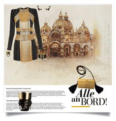 """""""All Aboard"""" by shoecraycray ❤ liked on Polyvore featuring Balmain, Giuseppe Zanotti, Yves Saint Laurent, AENEA, Nak Armstrong and Alexander McQueen"""