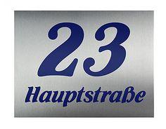 Edelstahl Hausnummer mit Familienname