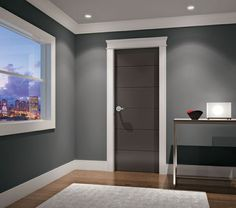 Interior Modern Door Bedroom Design for Home Minimalist - Interior Door Colors, Interior Door Trim, Baseboard Styles, Baseboard Trim, Baseboard Ideas, Baseboard Heaters, Door Molding, Moldings And Trim, Base Moulding