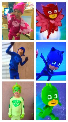 I couldn't find a template for Owlette's cape, so I made on Disney Halloween Costumes, Halloween 2016, Holidays Halloween, Halloween Kids, Halloween Crafts, Halloween Party, Pj Masks Kostüm, Festa Pj Masks, 4th Birthday Parties