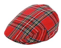 Red Wool Blend Tartan Flat Cap-Fully Lined-Classic Style And Pattern-Scottish Mens Newsboy Hat, Flat Hats, News Boy Hat, Mens Caps, Hats For Men, Caps Hats, Tartan, Wool Blend, Classic Style