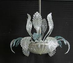 Lustre Murano, verre de Venise / Murano chandelier, Venetian glass
