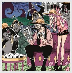 Dracule Mihowk Hawkeye Gnost Princess Perona One Piece