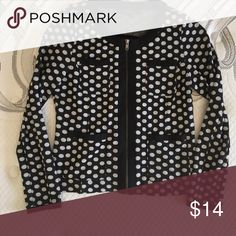 Polka dot zip up sweater Polka dot zip up sweater Sweaters