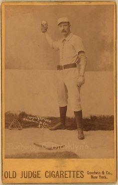 [Doc Bushong, Brooklyn Trolley-Dodgers, Brooklyn Bridegrooms, baseball card portrait]