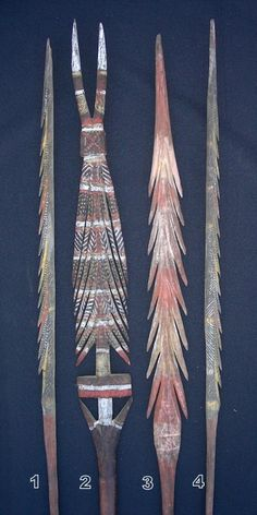 Aboriginal Tiwi Decorated Fighting Star Club Dance Wand