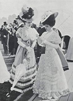 Edwardian Era Fashion, 1900s Fashion, Edwardian Dress, Vintage Fashion, Edwardian Style, Victorian Era, Gothic Fashion, High Fashion, Fashion Women