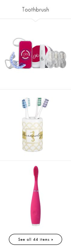 """Toothbrush"" by angelbrubisc ❤ liked on Polyvore featuring home, bed & bath, bath, bath accessories, gold soap dispenser, gold toothbrush holder, gold bath accessories, white and gold soap dispenser, seahorse bathroom accessories and summer sky"