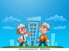 Engineers evaluating buildings