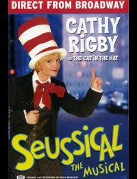 "Cathy Rigby as The Cat In The Hat in ""Seussical The Musical"" on Tour.   I love Cathy Rigby so much"