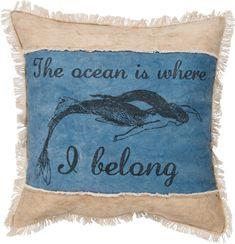 Ocean Is Where I Belong Canvas Pillow
