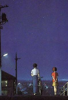 Susurros del corazón- Shizuku y Seiji. Vamos a dar un paseo y hagamos de todos los lugares a los que vayamos nuestros sitios favoritos y secretos.