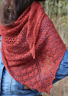 Named after a variety of apple, this beautiful lace shawl is perfect for layering as the weather turns colder.