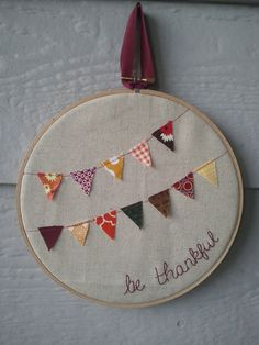 Autumn Embroidery - idea for a Falcon bunting for Maddie's room.