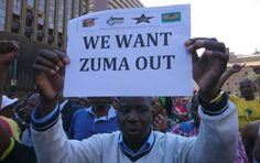 Hundreds of members of South Africa's ruling ANC have gathered outside their…