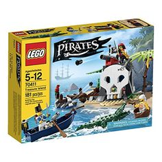 LEGO Pirates Treasure Island - 70411 - Most Wanted Christmas Toys Hungry Crocodile, Construction Toys For Boys, Pirate Treasure, Treasure Chest, Lego Juniors, Pirate Queen, Pirate Adventure, Lego Models, Treasure Island
