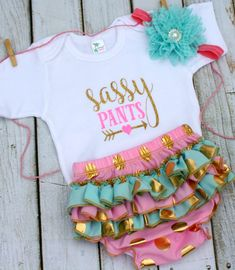Baby Girl Clothes Baby Girl Outfit Sassy Pants by WeebieCuties