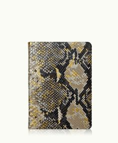 2015 Notebook | Gold Wash Embossed Python Leather Planner | Graphic Image