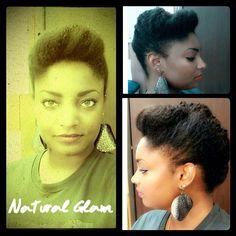 I like it! Natural hair. Updo. Medium to long length.