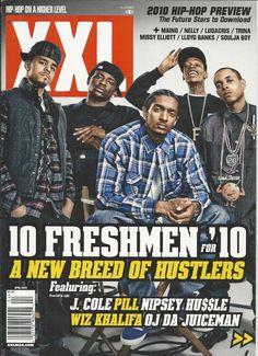 XXL magazine Freshman class J Cole Pill Nipsey Hussle Wiz Khalifa OJ DA Juiceman