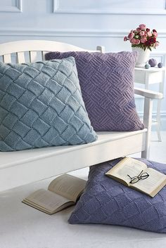 Floor Pillows pattern by Rosemary Drysdale #knit #entrelac