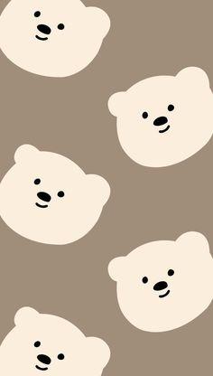 Cute Pastel Wallpaper, Soft Wallpaper, Cute Patterns Wallpaper, Bear Wallpaper, Iphone Background Wallpaper, Aesthetic Pastel Wallpaper, Kawaii Wallpaper, Aesthetic Wallpapers, New Wallpaper Iphone