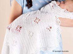 Royal Crochet Baby Shawl