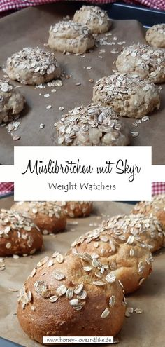 Weight Watchers Müslibrötchen mit Skyr sind schnell gemacht. #WeightWatchers #Müslibrötchen #WeightWatchersbrötchen #Brötchen Baking Blogs, Bread, Recipes, Food, Yummy Food, Food And Drinks, Oat Cookies, Proper Tasty, Sweet Recipes