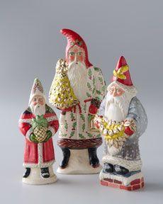 -3Y41 VAILLANCOURT FOLK ART Folk Art Santa Claus Figurines
