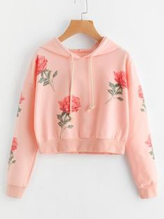 Material: 95% Polyester, 5% Spandex Color: Pink Pattern Type: Graphic, Print Neckline: Hoodie Style: Casual, Sports Type: Pullovers Sleeve Length: Long Sleeve Fabric: Fabric has some stretch Season: Spring, Fall Shoulder(Cm): 57cm Bust(Cm): 102-112cm Sleeve Length(Cm): 50cm Length(Cm): 48cm Size Available: one-size