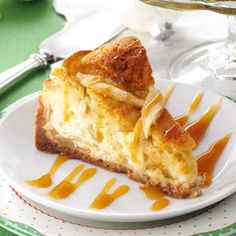 "Apple Cobbler Cheesecake Recipe -I call this combination of two classic desserts my ""lucky"" recipe. It won top honors when I entered the baking contest in my hometown's annual apple festival.—Jay Hoover, The Villages, Florida"