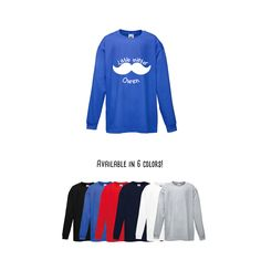 Boys shirt, Little mister shirt, longsleeve tee, personalized shirt, name shirt, boy birthday shirt, customizable boy shirt, mustache shirt by KMLeonBE on Etsy